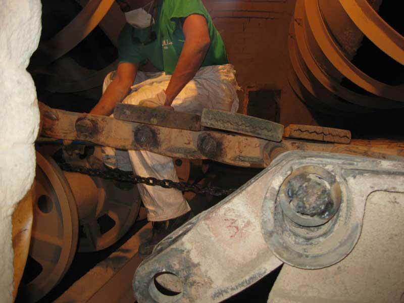 Manutenzione griglia lepol sostituzione particolari usurati