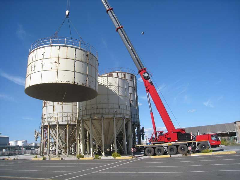 Smontaggio, manutenzione e rimontaggio di n°4 silos