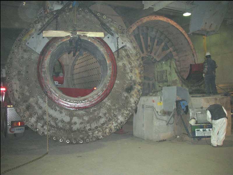 Sostituzione testata diametro 4200 mm - Mulino materie prime